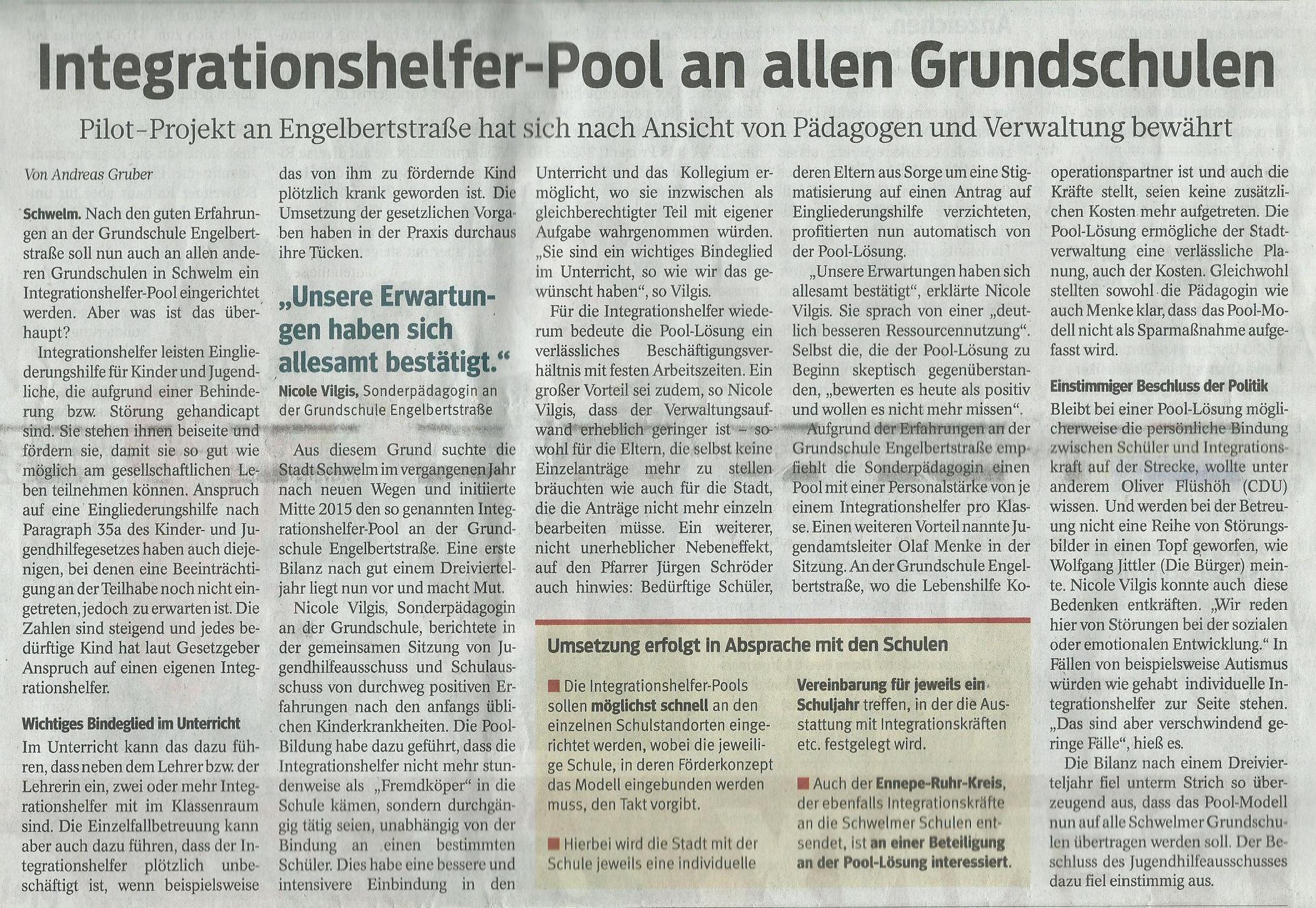 Poolbildung an unserer Schule war bisher erfolgreich | www ...